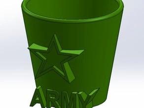 Army Shot Glass