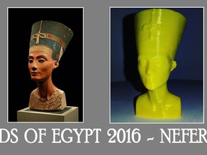 Nefertiti Fixed & Scaled Real 3D Scan