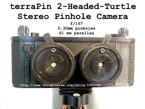 terraPin 2HT Stereo Pinhole Camera 120 film