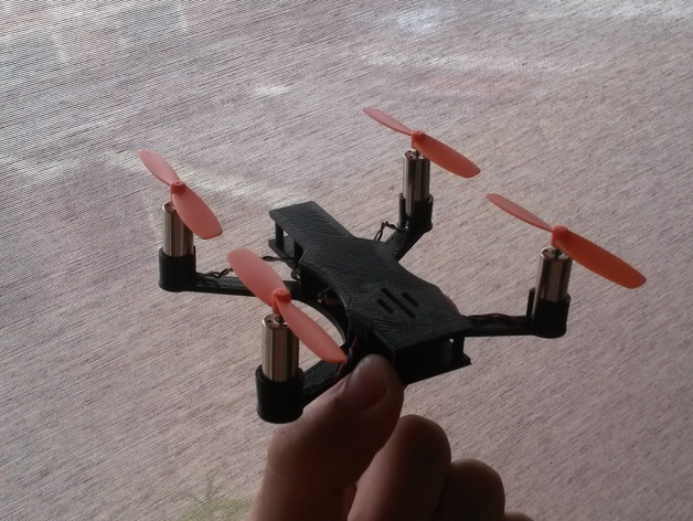 micro quadcopter frame tbs discovery style design for hubsan electronics 85mm motors by islemunda thingiverse