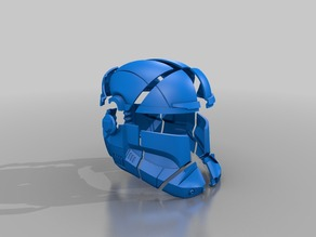 SW Republic Commando Helmet Split Print Ready