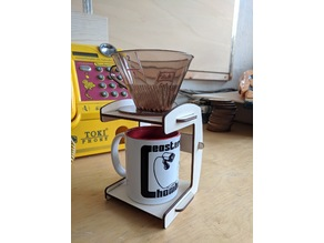 Lasercut pour over stand for coffee 4mm