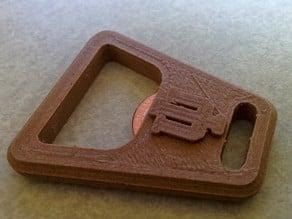 Indiana University Keychain Bottle Opener