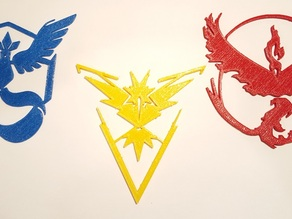 Pokemon Go Team Decals and Badges