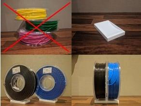 Filament Spool Upright Shelf Storage Block