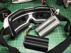 Minimalistic case for diy 2S 18650 fpv goggle batteries