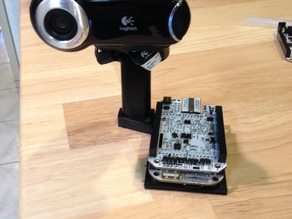 BeagleBone + Webcam holder for OpenROV