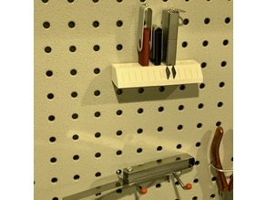 Pegboard holder for USB sticks and Micro-SD cards