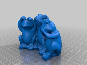 Three Wise Frogs