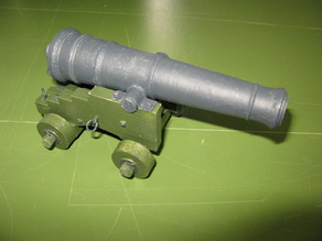 Austrian iron naval cannon 9pdr M1805 1/12