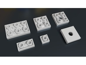 Lego compatible inverted tiles