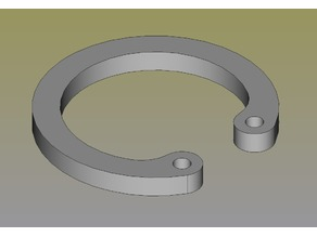 C clip/ring (inner diameter), parametric, FreeCAD