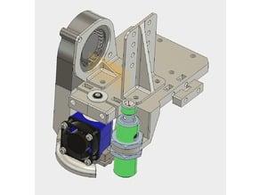X Schlitten für FLSUN Cube Drucker, Halter: E3D V6 Hotend; X carriage for FLSUN Cube Printer Hotend e3d v6