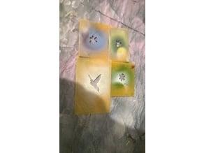 Stencils flowers , star and bird