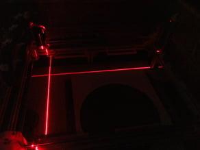 Adjustibal postition Line-Laser for cnc Laser or Mill