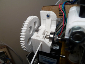 Simple extruder filament guide for eMAKER Huxley