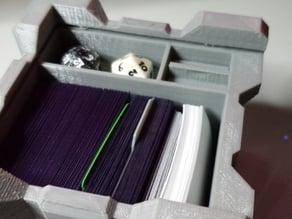 Companion cube double deck box 2 x d20 dice