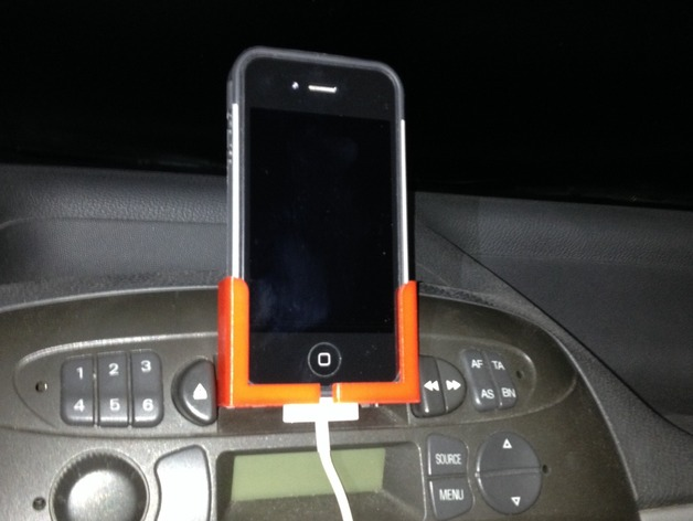 Iphone Smart Phone Holder For Cassette Player Mounting By