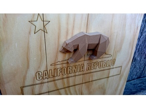California Republic Bear (Low Poly)