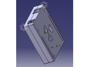 Arduino Uno Case holder rail DIN TH35