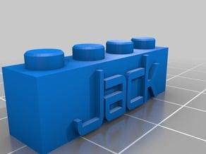 My Customized Lego Block Jack