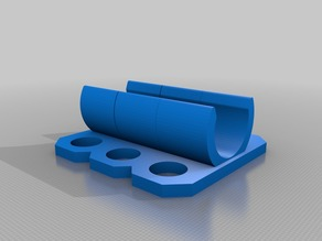 12mm button mount for 1/2 inch PVC