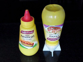Sauce Saver - Inverts bottles with a nozzle to minimize waste