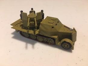 Armored SdKfz 7/1 (1/100)