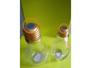 Convert bulb shaped bottle into salt shaker / Convertir botella en forma de bombilla en salero