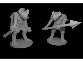 Gnoll mini - Spear and Archer pack