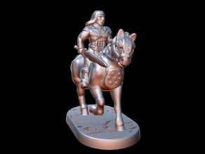 Barbarian Horseman (15mm scale)
