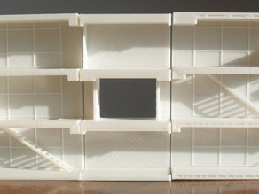 Unitè d'habitation by Le Corbusier: section cut model