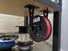 Filament spool holder upside down