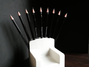 The pencil throne