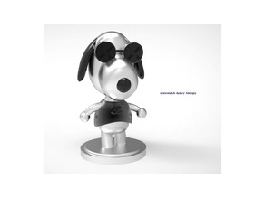 Dressed in luxury Snoopy Miniature toy