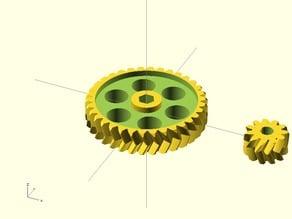 iamburny's extruder gears with adjustable hole sizes