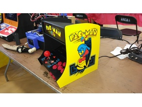 Mini Pac-Man Inspired Arcade Cabinet