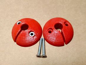 Paragliding Brakeball with screw and nut