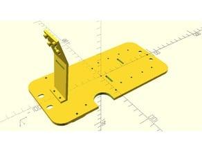 DIYRoboCar inverted donkeycar mounting plate
