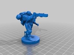 Space Robocop  - Space Marine - Warhammer 40k mini