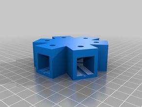 15x15 cross connector 6x for square round tubes aluminium profil