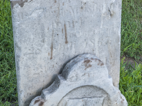 Broken Headstone at Mount Pleasant Cemetery