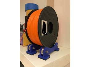 3D Printing Filament Spool Holder with Ball Bearings