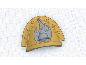 Shepards of Fire, 40k Shoulder Pad Insert