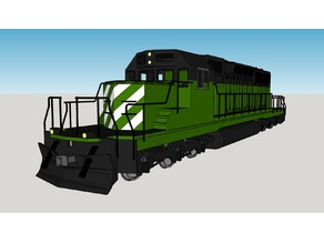 SD40-2 in 1/8 scale