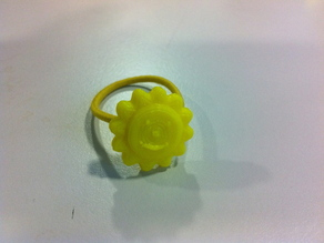 Hair tie with smiling Sun