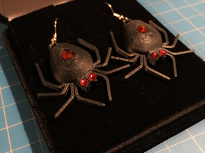 Spider Set - Earrings (5mm body gem and 3mm eyes)
