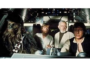 Star Wars Millennium Falcon Cockpit (That's no moon scene)