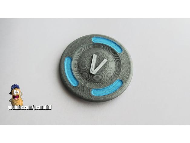 Fortnite Vbucks Piece By Peanuut3d Thingiverse