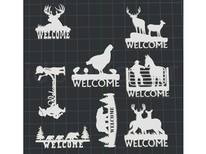 Welcome Signs For The Cabin 2D Wall Art